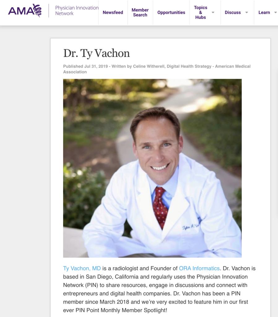 AMA PIN Dr. Ty Vachon